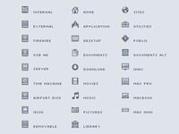 Mac OS X Lion Style Sidebar Icons
