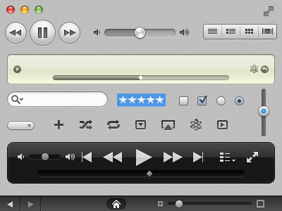 iTunes UI Kit ui free itunes button glyphs