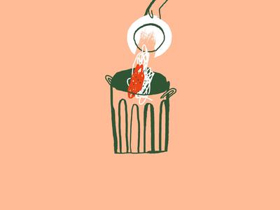 Falling out of flavour food italian food pasta editorial illustration editorial digital ink brush illustration line simple