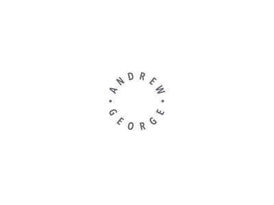 Andrew George simple identity branding logo