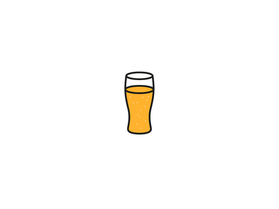 Beer illustration line simple glass drink alcohol beer
