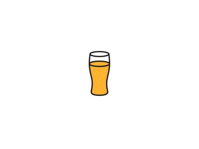 Beer illustration line simple glass drink alcohol beer