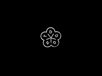 Dead Gent stamp texture black and white design brand logo cotton graphic