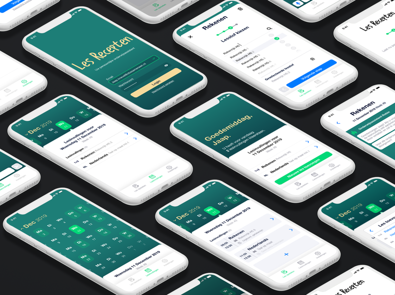 """UI Design for """"Les Recepten"""" Mobile App iphone x mockup iphone x mobile app design mobile app mobile ui design web app ux ui"""