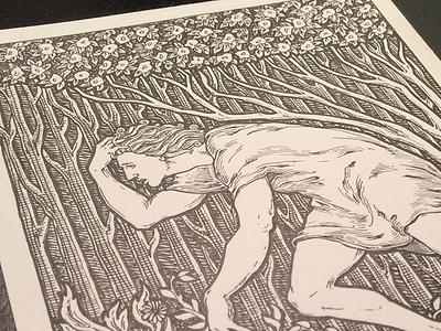 Lancelot lancelot illustration pen ink king arthur medieval