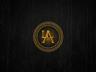 This is not Los Angeles engraving leather la vintage antic letterpress typography logo