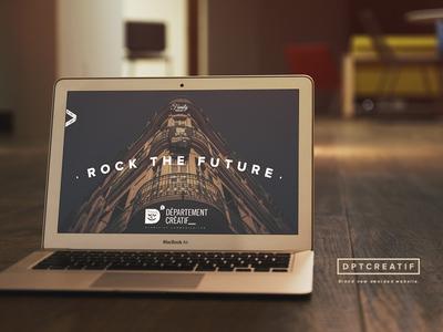 Département Créatif Website flat ui layout webdesign internet grid ux responsive