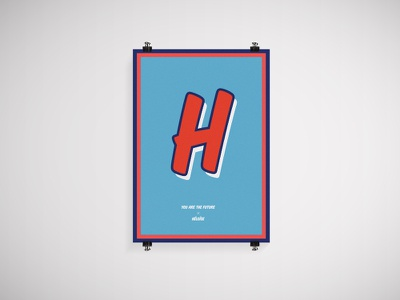 Héloïse poster street h poster print typography