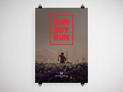 Run Boy Run print poster woodkid unsplash type
