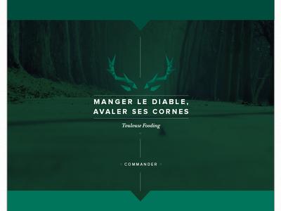 Manger le diable. webdesign website toulouse food nature deer shop internet