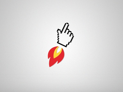To infinity ... and beyond ! webdesign logo branding click delivery internet fire pointer identity icons