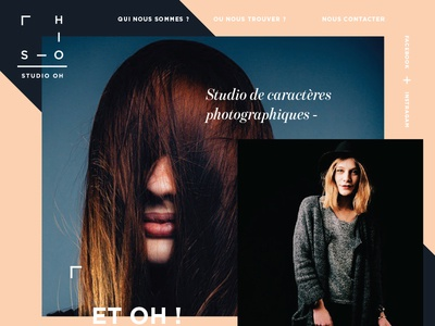 Studio Oh  branding website logo identity landing page photography internet