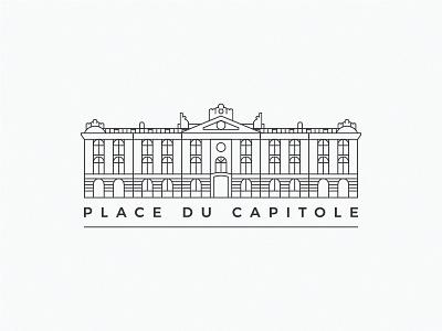 Place du Capitole inline capitole logo illustration toulouse