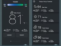 Flat UI Weather App Design
