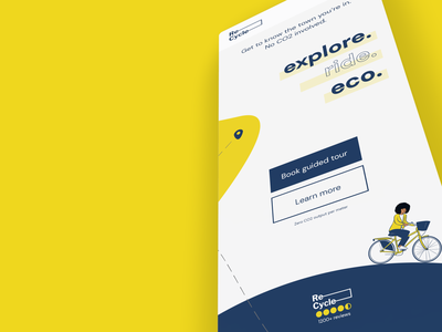 Re-Cycles offers eco-friendly guides in big cities. uxdesign uidesign behance dribbble webdesign web ui app design xd design