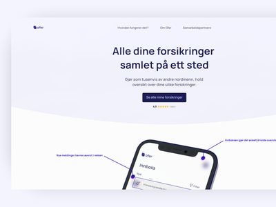Ofer Insurance - desktop view adobe ux ux design dribbble webdesign ui design design app design adobexd ui