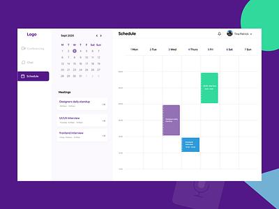 Schedule web app timetable calender schedule