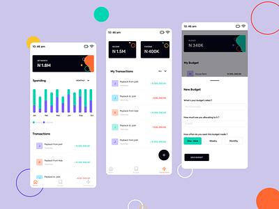 Budget App fintech transactions mobile app budget app budget