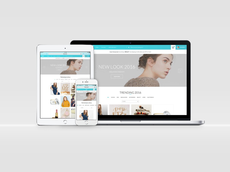 Responsive Curated Fashion Website (Concept)