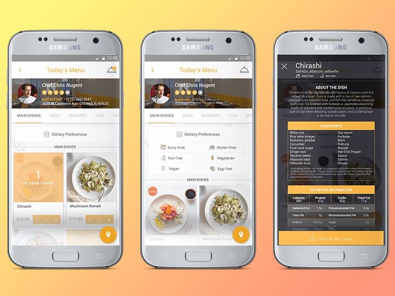 Thyme Android Concept - Food Delivery App