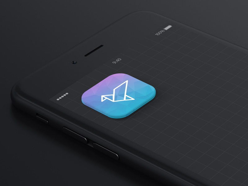 Daily UI #005 App Icon ios mobile icon geometric design daily dailyui appicon app