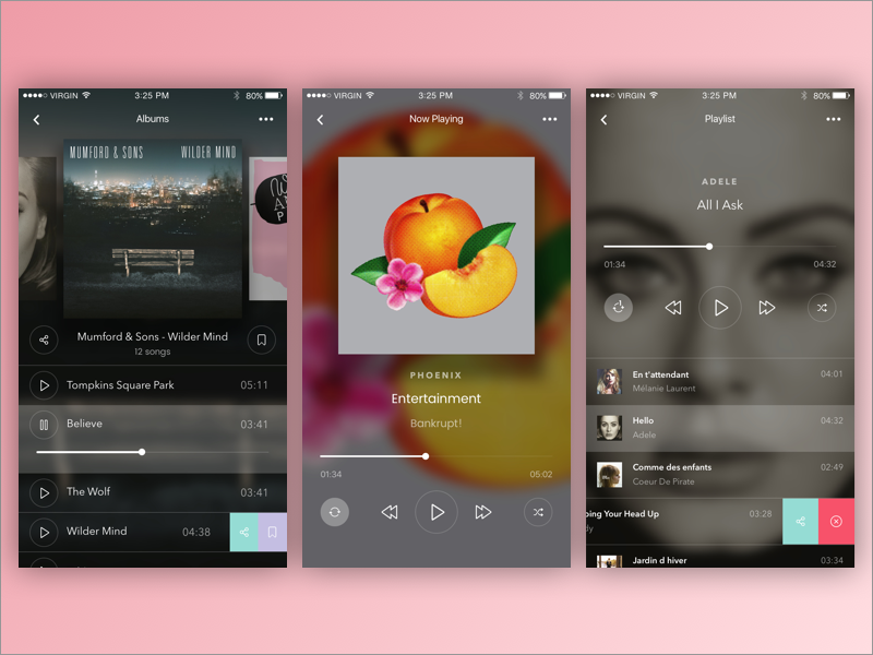 Daily UI #009 Music Player ux music mobile player media ui daily dailyui 009