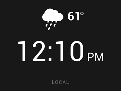Clock Tab android ui clock weather time