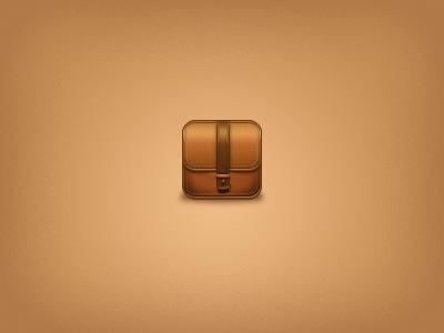 Folio Case iPad Icon ipad icon mobile brown leather iphone app