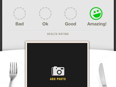 Food Detail Screen iphone foodish ui mobile rating