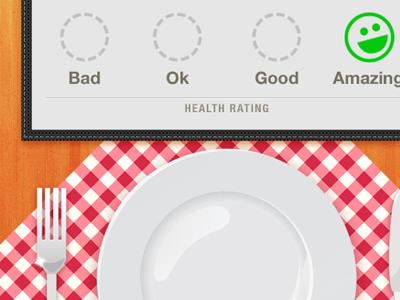 Final Food Detail Screen iphone foodish ui mobile rating menu table