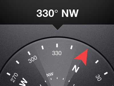 Compass Direction Indicator compass android ui mobile dial