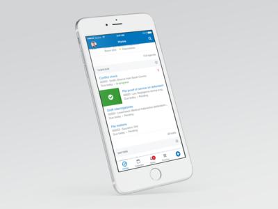 Clio iOS app