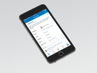 Clio iOS app - task detail