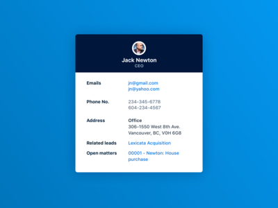 Unused contact card UI concept (high res re-upload)