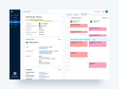 CRM - Schedule an appointment