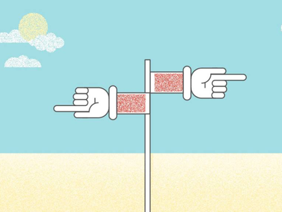 Polish beach sea flat illustrator illustration
