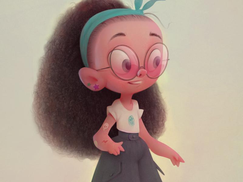 girl baydakov fashion girl advertising animation cartoon character