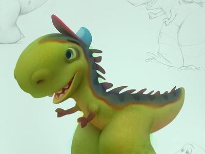 Dino dinosaurs baydakov aleksey conceptart advertising agency animals cartoon character animation