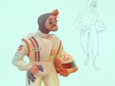 racers baydakov aleksey advertising animations cartoon character concept