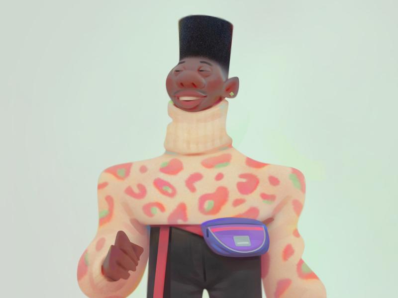Street animation advertising concept baydakov aleksey character design