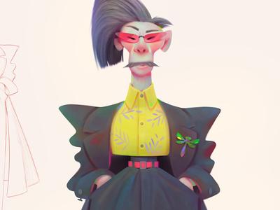 fashion baydakov aleksey animation advertising concept cartoon illustration character design