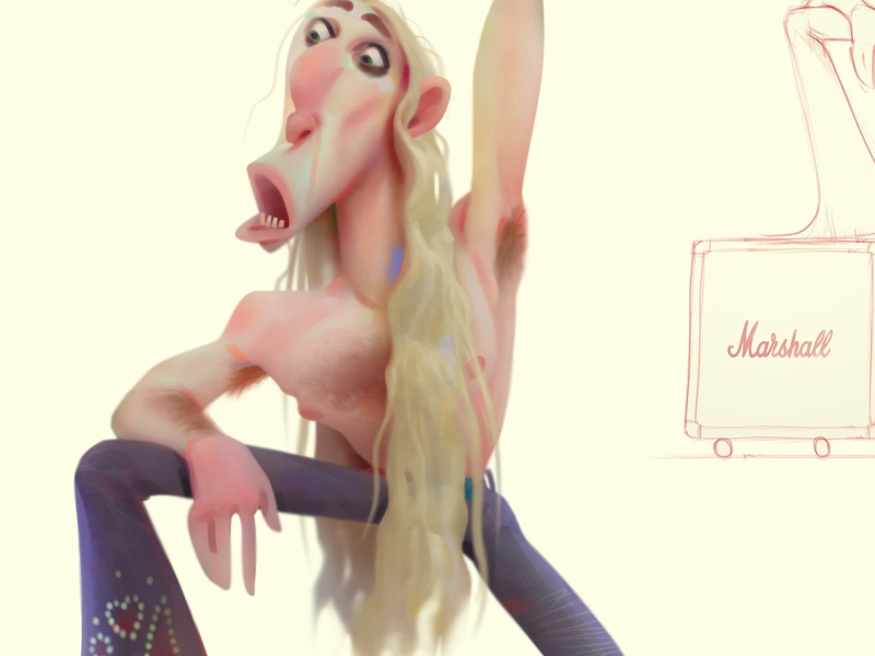 rock people animation advertising concept cartoon baydakov aleksey illustration character design