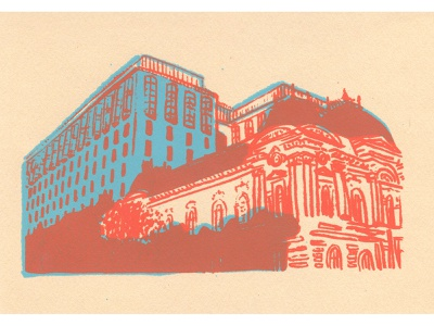 Around DC: Renwick postcard dc dmv print design print illustration art screenprinting screenprint printmaking illustration design