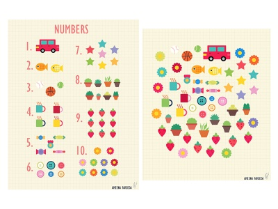 Charts for Children: Numbers objects colorful teacher children book illustration childrens book childrens illustration graphic design digital art print design illustration art print illustration design