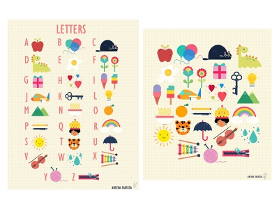 Charts for Children: Letters childrens illustration childrens book poster vector branding graphic design digital art print design illustration art print illustration design