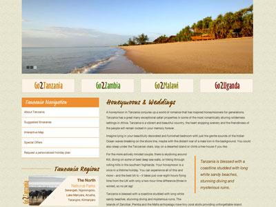 Safari Tours Web Redesign safari website redesign africa tanzania