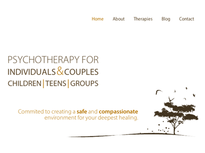Psychotherapy Website psychotherapy counselling clean website