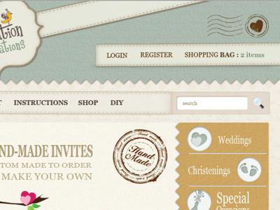 Craft Web Design craft texture website handmade weddings