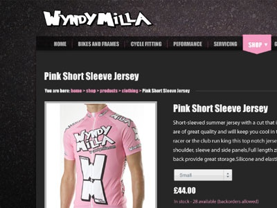 Wyndy Milla Bikes bike cycle website ecommerce