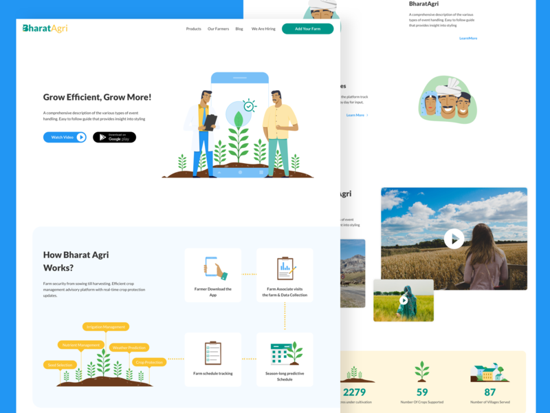 Bharat Agri Website website illustration ui product design agriculture